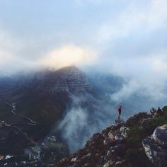Up into the clouds. Photo by CraigHowes. Visit South Africa, Table Mountain, Trail, National Parks, Scenery, Clouds, Island, Mountains, Instagram