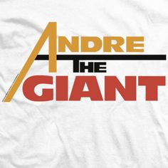 Andre The Giant T-shirts Licensed By Andre's Family - Andre Classic T-shirt Andre The Giant, Direct To Garment Printer, Cotton Tee, Bleach, Classic T Shirts, Logos, Logo, Legos