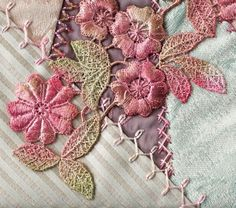Crazy Patch How To: Looped Cretan Stitch from Martha Pullen