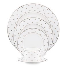 Kate Spade Larabee Road Platinum dinnerware by Lenox. Would love for my china to be this!