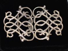 Beautiful Antique Victorian Sterling Silver Belt Buckle  Hallmarked 1900 Larger #Unbranded