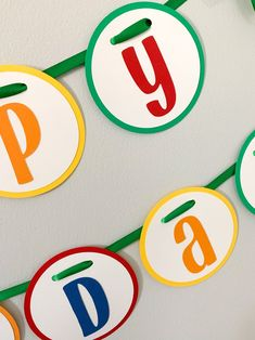 Let's Have a Ball Birthday Party Decorations*Primary Colors Birthday*Colorful Birthday Party*Rainbow Birthday Decorations*birthday banner Rainbow Birthday Decorations, Colorful Birthday Party, Ball Birthday Parties, Happy Birthday Banners, Baseball First Birthday, Tractor Birthday, My Son Birthday, Dessert Table Decor, Ball Decorations