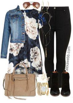 Plus Size Dipped Back Top Outfit - Plus Size Fashion for Women - alexawebb.com #alexawebb