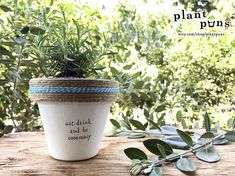 Eat, Drink and Be Rosemary & Plant Indoor and Outdoor Pot or Planter Outdoor Pots, Outdoor Gardens, Mini Gardens, Outdoor Ideas, Herb Garden, Garden Pots, Herb Pots, Plant Pots, Organic Gardening