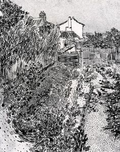 Vincent van Gogh drawings - part 3 Van Gogh Drawings, Van Gogh Paintings, Art Drawings Sketches, Landscape Sketch, Landscape Drawings, Landscape Art, Pierre Auguste Renoir, Edouard Manet, Claude Monet