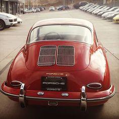 Gorgeous vintage Porsche in red.