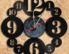 Pared reloj Beatles vinilo Registro reloj por geoartcrafts en Etsy