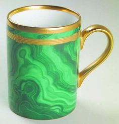 Dior demitasse - Gaudron Malachite Green Marble (www.replacements.com)