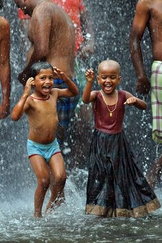 dancing in the rain...fun in any culture