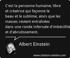 Albert Einstein :                                                       …