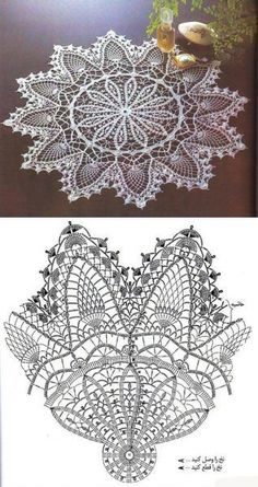 Learn to knit and Crochet with Jeanette: Patterns of crochet doilies. Free Crochet Doily Patterns, Crochet Doily Diagram, Crochet Motifs, Crochet Art, Thread Crochet, Filet Crochet, Crochet Designs, Crochet Stitches, Knitting Patterns