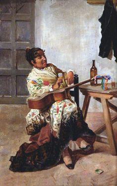 Garcia, J (19th-20th century) - Mujer Con Guitarra