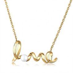 GOLDHIMMEL Halskette// necklace »Love-Süßwasserperle«, gold