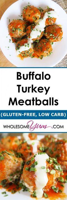 Buffalo Turkey Meatballs (Gluten-free, Low Carb)