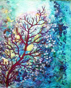 Barbara Harms Fiber Art Impressionist art quilt
