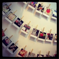 Polaroid style prints.  Use them to create a beautiful washing line of memories!   square_snaps.com