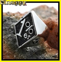 1% one precenter biker ring  - Cheappy