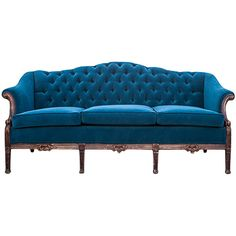 Vintage Velvet Sofa ❤ liked on Polyvore featuring home, furniture, sofas, sofa, decor, furnature, velvet couch, vintage sofa, vintage home furniture and vintage couch