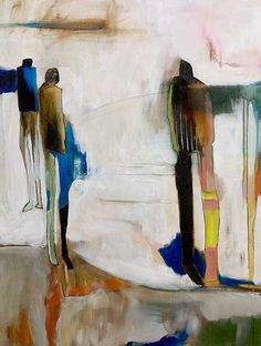 Figurative abstract painting.