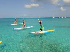 Have you ever tried YOGA on a paddle board? Check out What' SUP Barbados on Carlisle Bay, St Michael.