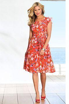 Dresses - Capture Printed Chiffon Dress