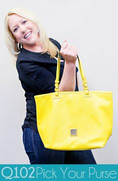 Dooney & Bourke - East/West Tote. Go to wkrq.com to find out how to play Q102's Pick Your Purse!