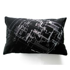 architectural sketch pillow