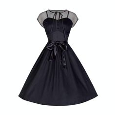 50s-style black party dress / bitter root vintage | pin up style clothing, vintage style dresses