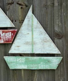 Beach-y Weathered Sail Boat, Lake House Decor, Coastal Living, Beach House Wall Hanging, YOU CHOOSE COLOR on Etsy, $22.00