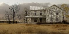 The Olde Homeplace. A lovely painting. I really like Billy Jacobs work. His art is so heart felt