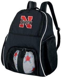 University of Nebraska Ball Backpack Cornhuskers Soccer Ball Bag Basketball Backpacks OFFICIAL NCAA COLLEGE LOGO by Broad Bay. Save 22 Off!. $38.99. This well made college logo University of Nebraska ball backpack is the perfect solution for soccer or basketball practice. Made of heavy duty 600D polyester with soft backing, the mesh paneled interior ball compartment allows you to quickly and easily zip your ball right in and keep it separate from the main compartment. The main com...