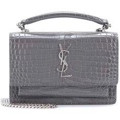 a1a32a963814 Saint Laurent Sunset Embossed Leather Shoulder Bag (23.736.790 IDR) ❤ liked  on
