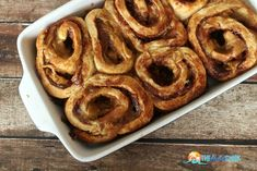 Apple Pie Cinnamon Rolls Recipe - perfect for your Sunday brunch this fall!