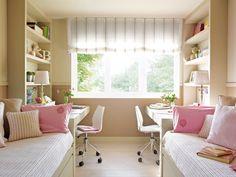 Nuevo Servicio... Y decora con estores, cortinas...   Cómo cambia un dormitorio con un estor ligero o unas caidas bonitas, ¿verdad? Elige las telas que más te gusten de nuestro amplio surtido  de catálogos: Coordonné, Designers Guild, ...