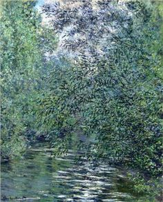 The Willows on the River - Claude Monet