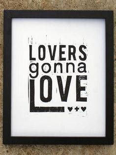 Lovers gonna love...