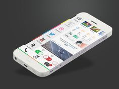 iOS 8 Infinity by Emilien Durand. iPhone 6 Infinity Concept Design.
