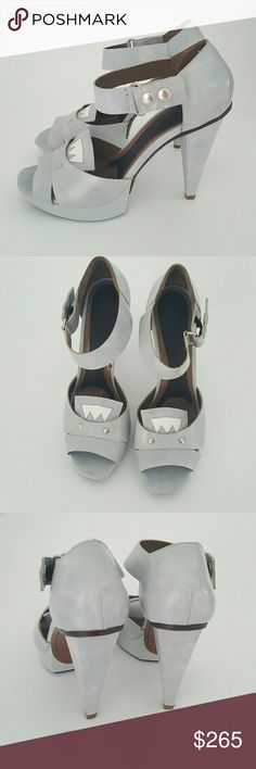 """Marni Platform Sandals NWOT Athletic pair of shoes from Marni made in Italy , stylish and perfect with any outfit, baby blue with detailing on new the front. Upper calf skin leather, lining leather and soles, platform 0,98"""" heels are 5"""" new never been worn.  These are coming with box and dust bag. Marni Shoes Platforms"""