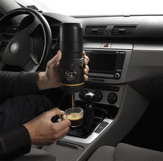 Who wouldn't want their own coffee maker in the vehicle? #FaureciaNAIAS2014