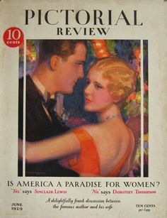 June 1929 Pictorial Review: Artist mcclelland barclay