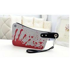 Bloody Cleaver Clutch Purse. The Hatchet Handbag Al