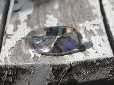 Size 7.25 Abalone Puau Shell Faceted Band Resin by MonkeyNavigated, $12.00