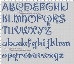 Upper and Lowercase Alphabet Embroidery Alphabet, Embroidery Fonts, Hand Embroidery Patterns, Disney Alphabet, Alphabet Templates, Alphabet Charts, Alphabet Letters, Baby Cross Stitch Patterns, Cross Stitch Baby