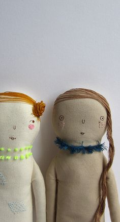 by marina*r, via Flickr cute embroidery design ideas for prim ,rustic plushie doll faces