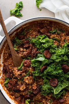 Get the recipe: chorizo and kale risotto  Image Source: Recipe Tin Eats