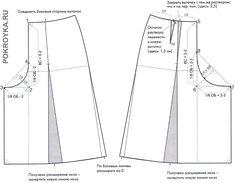 Выкройка юбки-брюк Lista com dicas e tutorias de: Sewing Paterns, Dress Sewing Patterns, Clothing Patterns, Sewing Pants, Sewing Clothes, Modelista, Sewing Studio, Pattern Drafting, Pants Pattern
