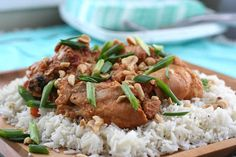 Meal Planning Slow Cooker Peanut Chicken from Looneyspoons Rice Cooker Recipes, Crockpot Recipes, Cooking Recipes, Slow Cooking, Freezer Cooking, Easy Cooking, Gourmet Recipes, Yummy Recipes, Think Food
