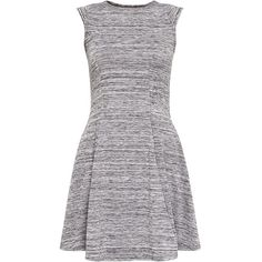 Cameo Rose Grey Space Dye Skater Dress ($10) ❤ liked on Polyvore featuring dresses, vestidos, short dresses, gray cocktail dress, fit and flare cocktail dress, gray dress, grey dress and mini skater dress