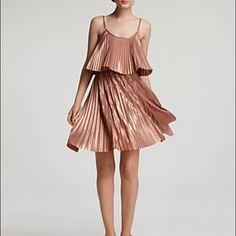 Halston Heritage Pleated Dress Sz 4