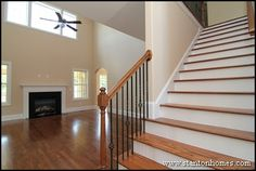 inside split level homes   Raleigh New Home Design Ideas   Staircases that emphasize overlooks